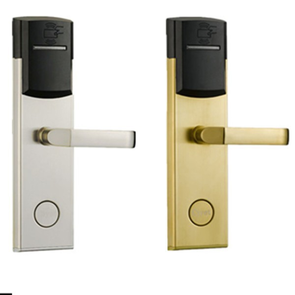 aluminum cylinder Key rf card hotel door lock electronic key card lock