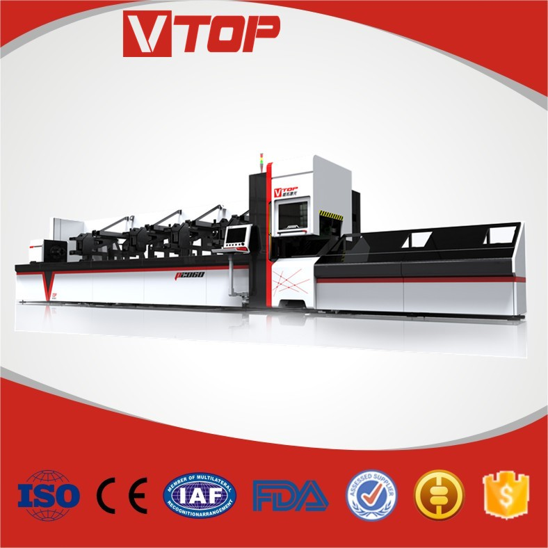 SS / CS /Aluminum Pipe Fiber Laser Cutting Machine Price