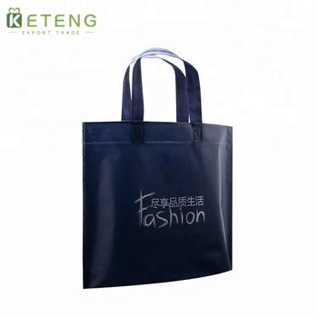Hot sale laminated customized logo blue/black non woven party gift bag