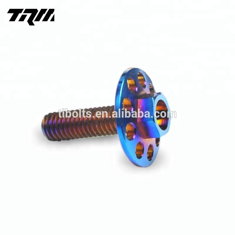 High quality M5 M6 titanium bolts colorful <strong>screws</strong> for bicycle and motor