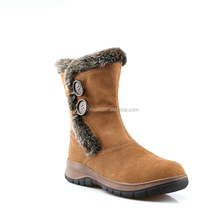 Fashionable leisure long barreled suede skin korean snow boots for women