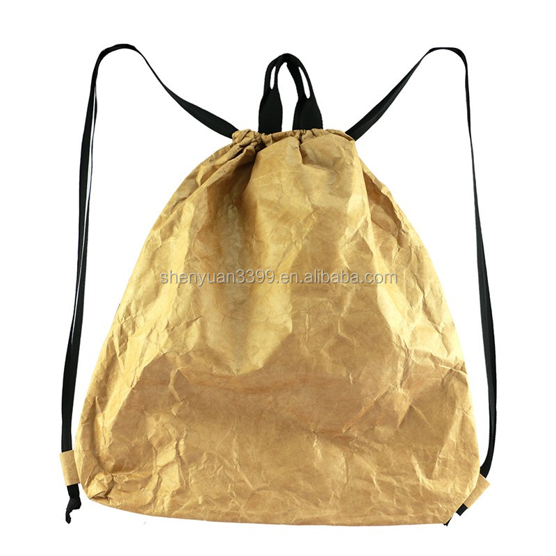 2016 Shopping Specialty paper Drawstring Bag,large capacity travelling bag,waterproof drawstring backpack