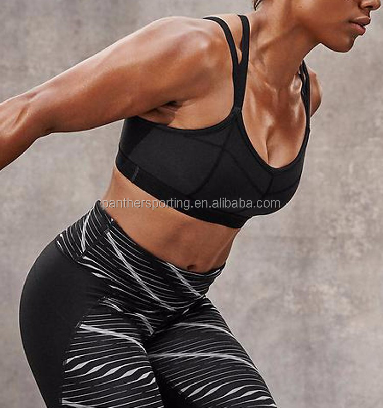 Fitness Top Quality Fabric Quick Dry Cross Back Fitness Sport Bra For Women
