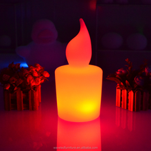 Flashing Party holiday Decor colorful candle lamp lighted window decorations for christmas