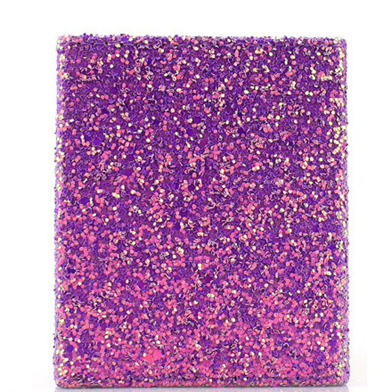 Square Magnet pu leather glitter cosmetic bag makeup brush holder