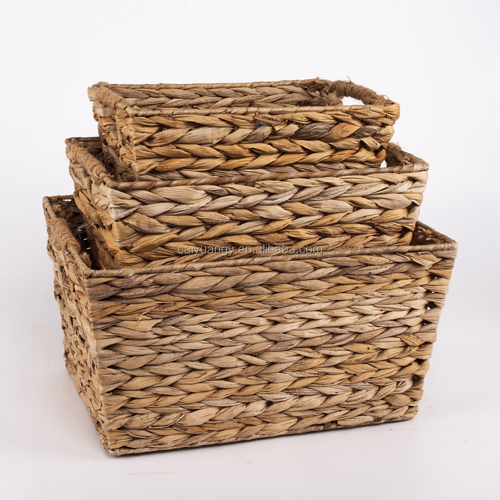 Wholesale Cane Novelty Bulrush Laundry Baskets