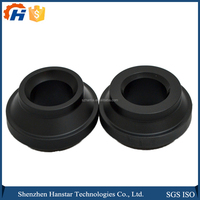 Black or White OEM ABS/POM CNC machined circle small plastic parts