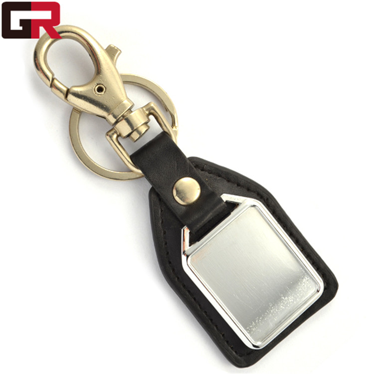 Manufactory Production leather key chain fob