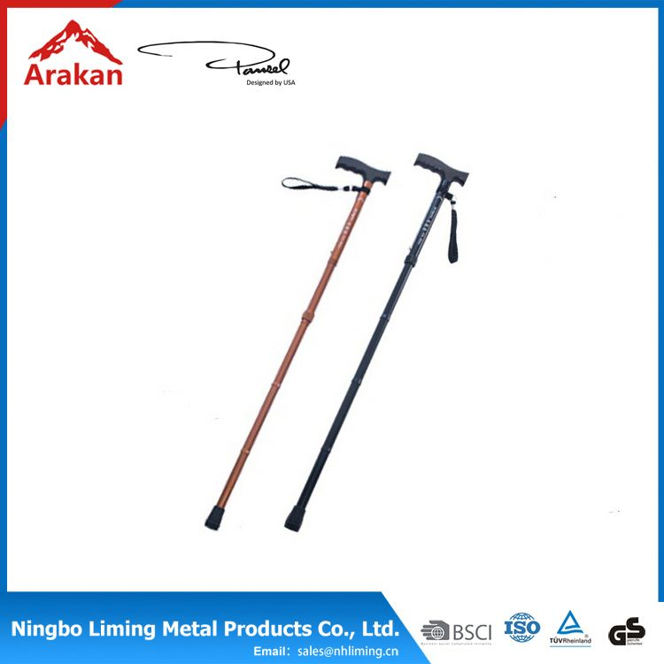 Nature Bamboo aluminum Walking Stick Cane Trekking Pole Hiking Pole Adjustable Telescopic
