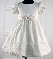 best-selling short sleeve bead embroidery princess flower baby girl party dresses 1-4y