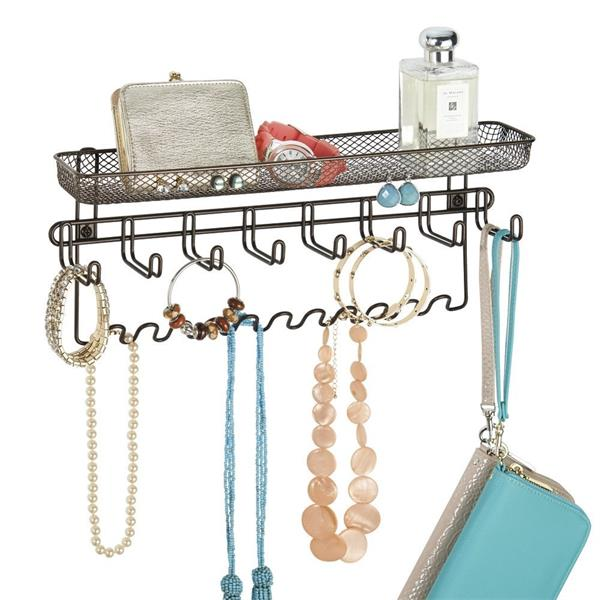 Chinese Manufacturer Wholesale Factory Price Metal Wire Display Rack Wall Mounted Jewelry Organizer