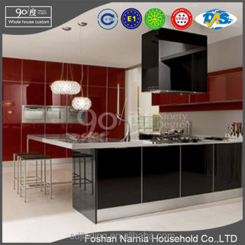 European style kitchen cabinet design ideas PVC faced kitchen home furniture