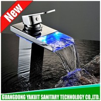 Direct manufacturer led mixer tap, automatic led waterfall faucet