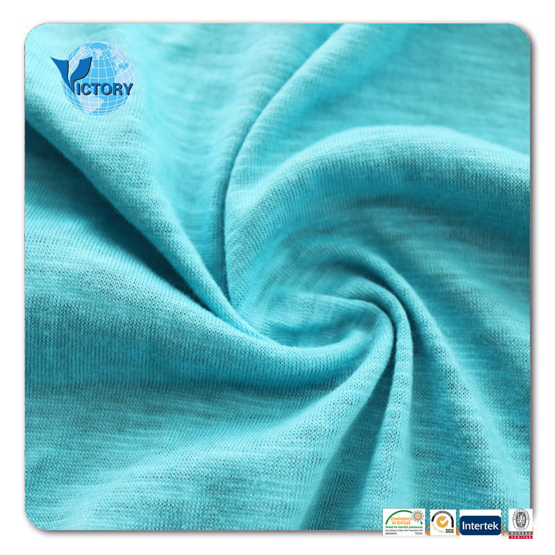 100% Cotton Slub Single Jersey Knit Fabric Wholesale for Garment or T shirt