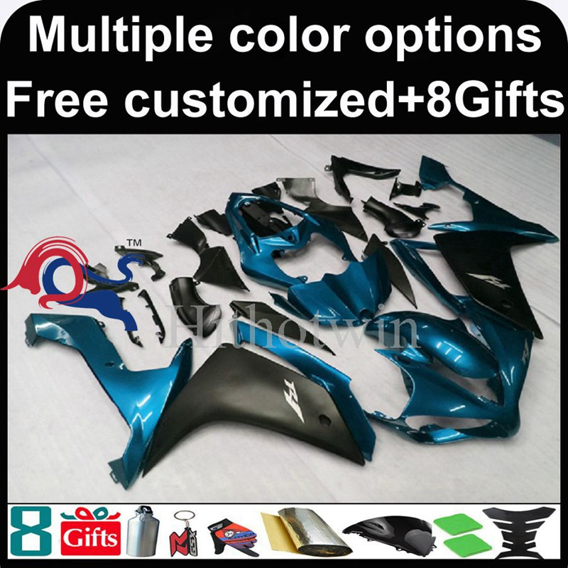 blue black motorcycle cowl for Yamaha YZF-<strong>R1</strong> 2007-<strong>2008</strong> 07 08 YZFR1 2007 <strong>2008</strong> 07-08 ABS Plastic <strong>Fairing</strong>