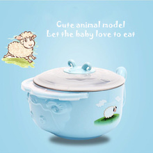 High quality cartoon pp stainless steel rice bowl