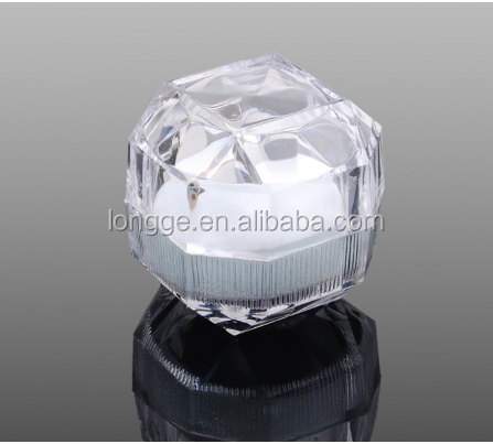 Imitation crystal trinket boxes-- earrings rings boxes