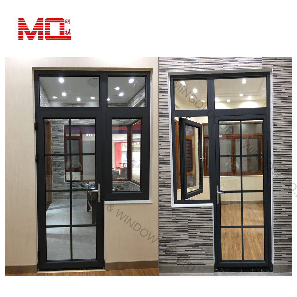 Aluminum balcony french doors/ aluminum door Guangzhou