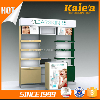 2017 Kaierda hot sale makeup cosmetic display stand for store