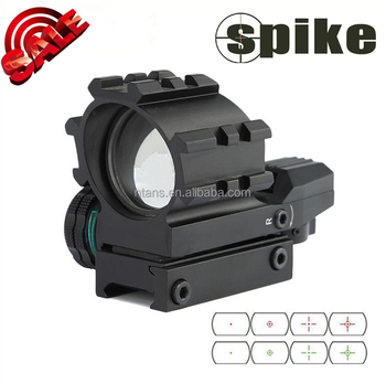 Spike Multi-Reticle Sight(Multi-Rail) Rifle Scope Red / Green Illuminated Red Dot For Rifle, Pistol & Hunting