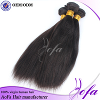 100% Unproceseed 3Bundles Brazilian yaki curly Human Hair Weave Extensions Weft