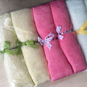 Best selling High quality 100% bamboo absorbent 6 baby towel white  washcloths for kids and adults