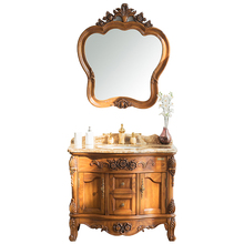 Foshan Solid Wooden 40 Inch Hotel Antique Furniture Set Bathroom Vanity Cabinets
