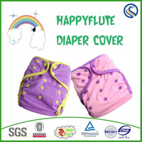 Happy flute newborn baby cloth diaper cover adjustable size reusable washable diaper cover manufacturer
