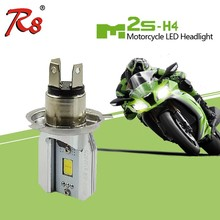 R8 Factory Drop Ship LED Motorcycle Headlight M2s M3 M4 Motorbike M2s H4 Hi/Lo LED Bulb 6W 800LM Plug and Play Wireless