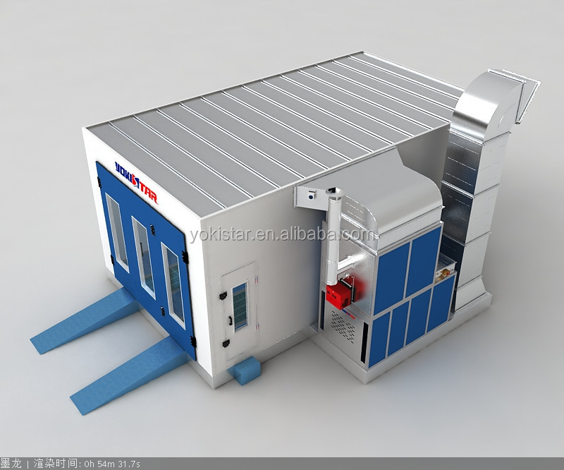 Popular car paint booth automotive full downdraft paint spray booth in China
