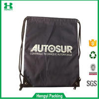 High quality sports drawstring nylon bag, light weight and portable