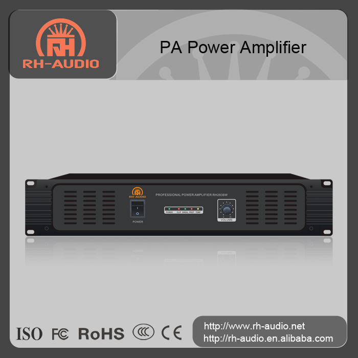 RH-AUDIO 2U PA Power Amplifier With 100V 70V Speaker Terminals