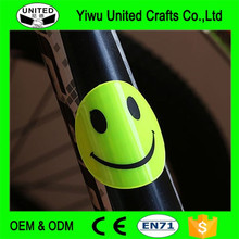 2017 cheap glow in dark custom reflex bicycle sticker for decoration