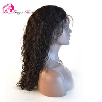 Wholesale cambodian hair 20inch color #1b natural hair line full lace human hair wig