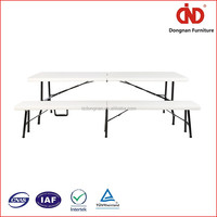 china manufacturer hot sales fashion portable folding table and chair set in dubai