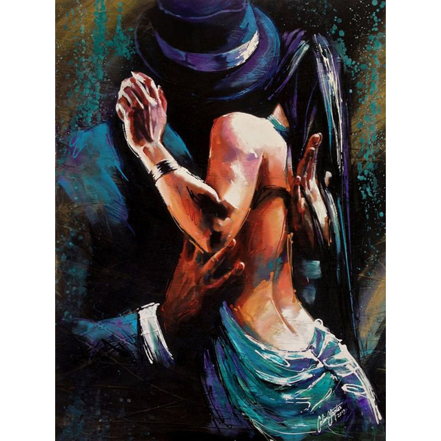 100%Handmade Spanish Impression Flamenco Dancing tango Oil Painting On Canvas Dancer Wall Decor Abstract Decorative