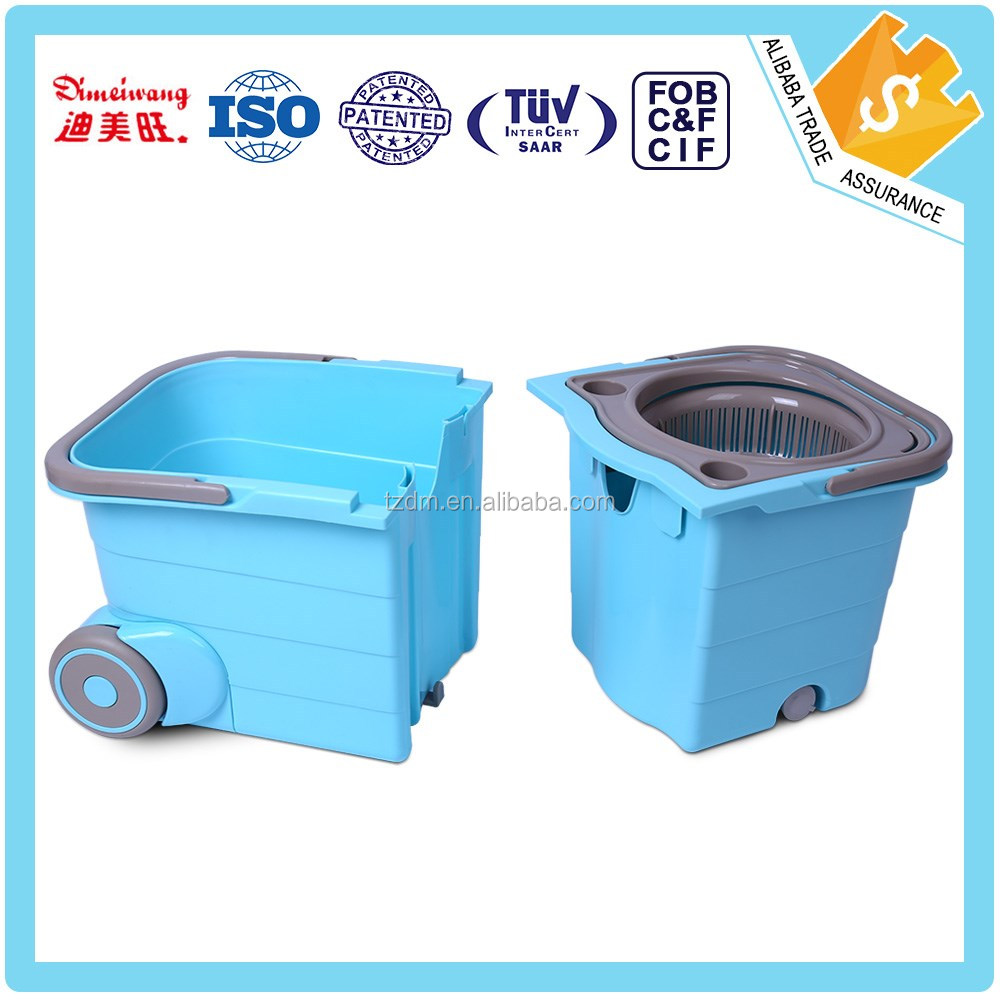 A and B separate folding 360 double twist mop with spin bucket