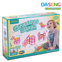 High quality large plastic blocks educational building sticks toy for kids