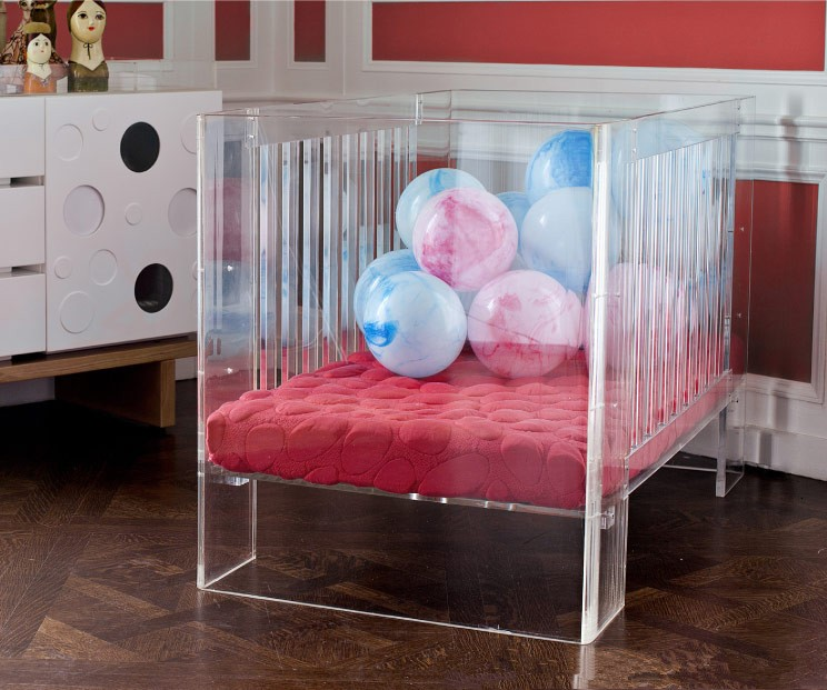 China Manufacturer Wholesale Clear Acrylic Baby Crib Style