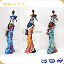 Polyresin African woman resin black lady figurines