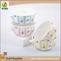 Personalized china manufacturer eco-friendly ceramic porcelain thermal food bowl