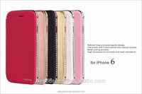 Wholesale high quality pu leather phone case cover for iPhone 6