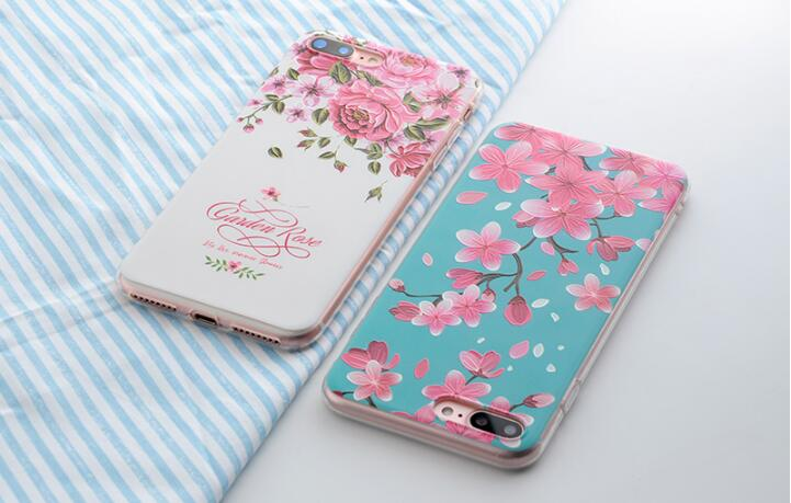 Hot Sale DIY Flower Daisy Plant Fruit Cactus Leaves Pattern Cell Phone Case Soft TPU Silicone Cover Case for iPhone 5