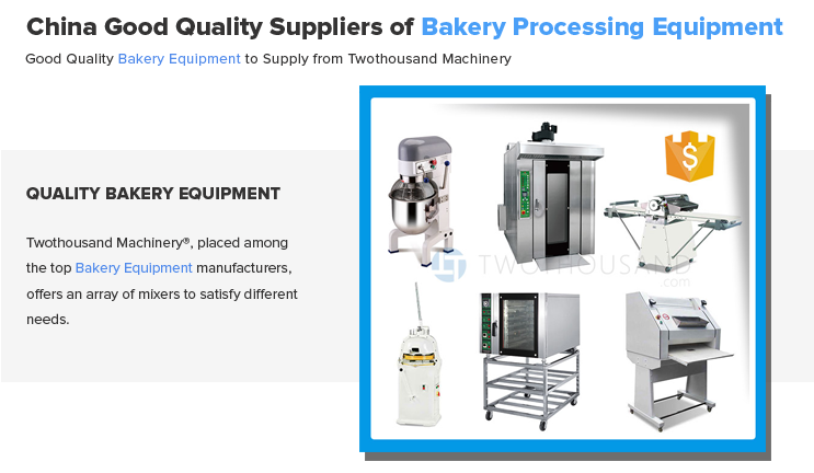 Bakery Equipment Prices from Twothousand Machinery