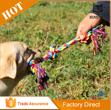 Mixed colors dog rope toy for different cultures