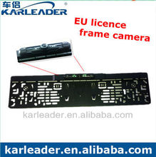 New arrival EU license plates car camera, license plate frame car camera with IP67 waterproof grade
