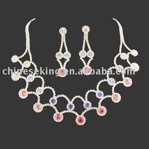 2010 new design bridal jewelry sets, high quality wedding jewelry