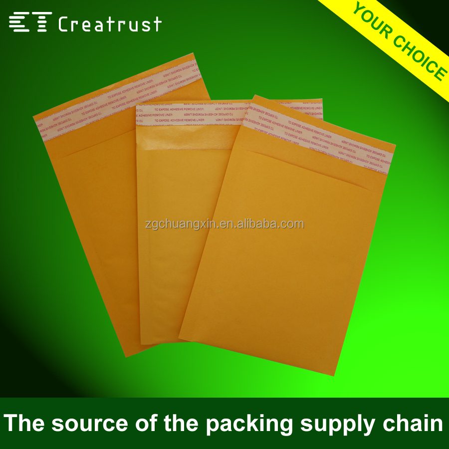 customized printing 110gsm kraft air bubble envelope