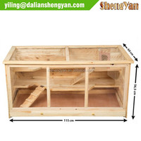 Wood Hamster House, Natural Wooden Pet Hamster Cage