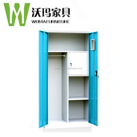 High quality knock down structure metal clothes locker cabinet steel closet wardrobe locker